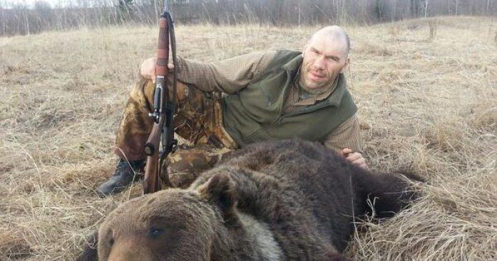 Николай Валуев на охоте