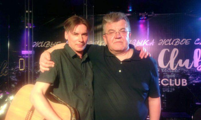 Сергей Гребнев с гитаристом Евгением Пашковым