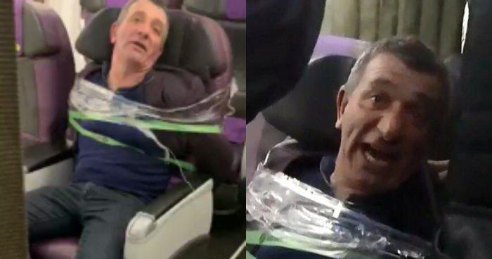 Истинных авиадебоширов приматывают скотчем к креслу, как это произошло  с пассажиром рейса Минеральные Воды — Новосибирск в декабре 2019-го