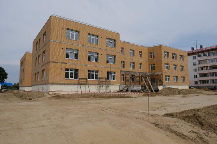 Детский сад-ясли в селе Криводановка Новосибирского района строится по типовому проекту повторного использования.