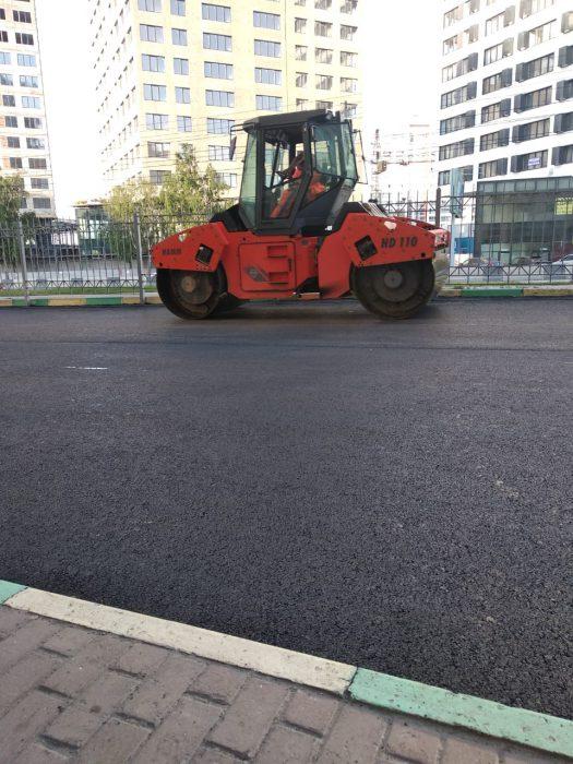 """Техника строительной компании """"Горизонт"""" работает на одном из муниципальных объектов Новосибирска."""