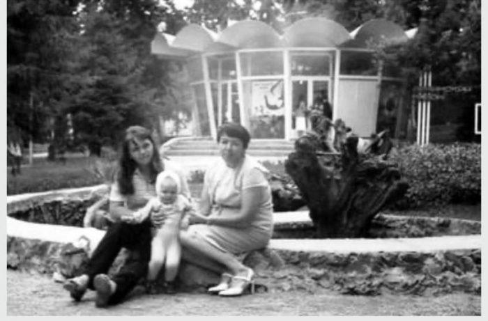 Архивное фото: Нарымский сквер, 70-е годы.