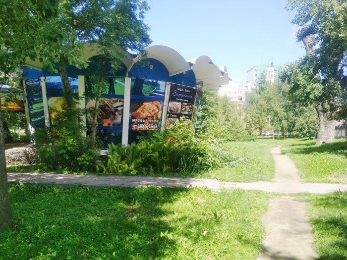 Павильон был построен в 70-х для проведения выставки достижений садоводов-любителей.