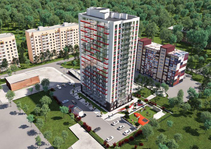 Строящийся жилой дом «НИКА» (визуализация)