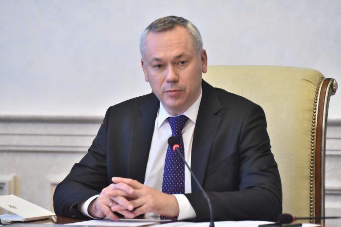Губернатор Новосибирской области Андрей Травников на оперативном совещании правительства региона.