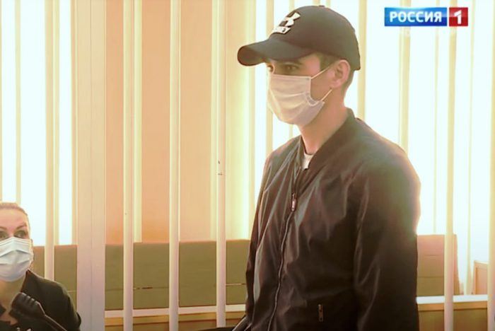 Обвиняемый по делу о смертельном ДТП Никита Лазьков.