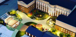 Эскизный проект благоустройства двора Новосибирской государственной консерватории имени Глинки
