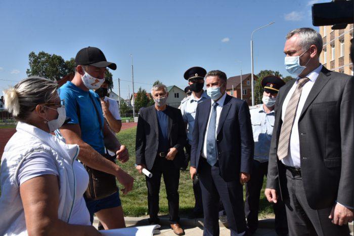 Встреча губернатора Новосибирской области Андрея Травникова с жителями Бердска.