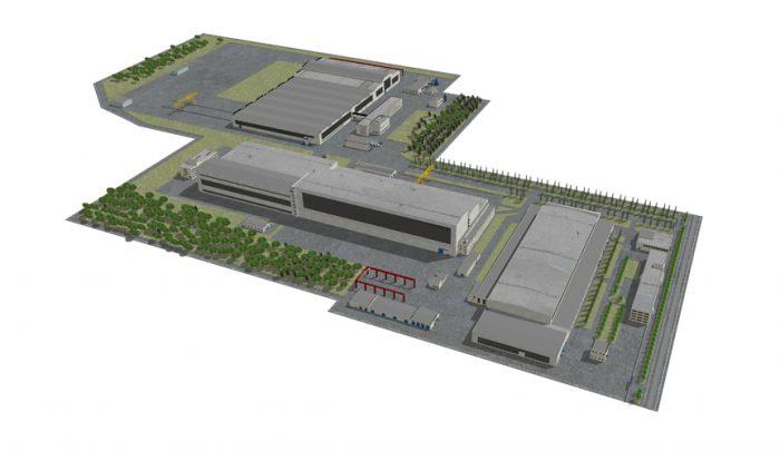Схема производственной площадки. Визуализация ratm.ru