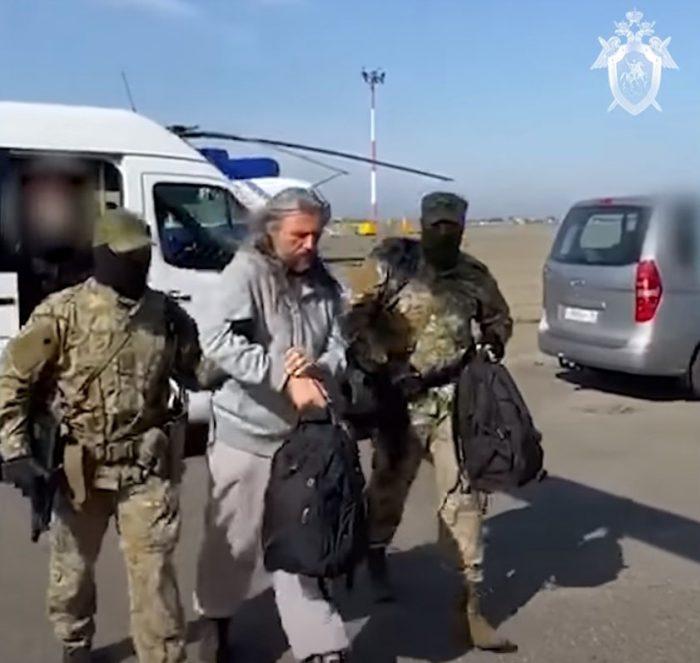 Сергей Тороп. Кадр из видеозаписи СКР