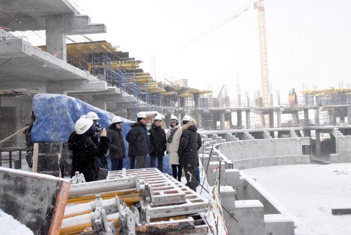 Строительство новой ледовой арены