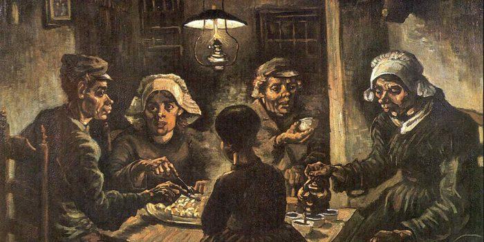 «Едоки картофеля». Винсент Ван Гог. 1885 год.