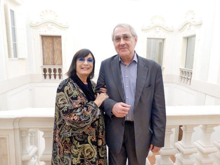 В Равенне с Кристиной Мути, выдающейся оперной певицей, супругой Рикардо Мути