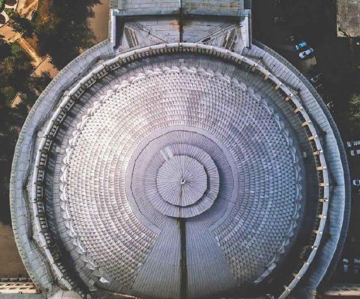 Фото из конкурсной документации: вид на купол оперного театра (2017 г.)