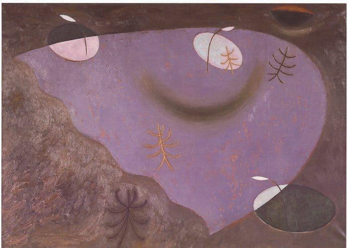 Олег Еловой. «Фонари и деревья. Утро». Холст, масло (1992). Галерея Синара Арт